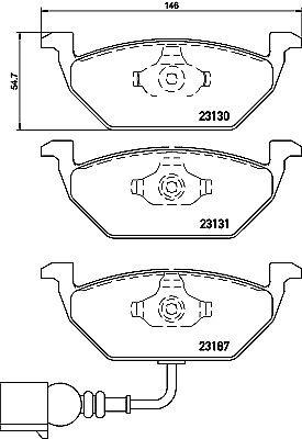 Mintex Front Brake Pad Set MDB2040 GENUINE BRAND NEW 5 YEAR WARRANTY