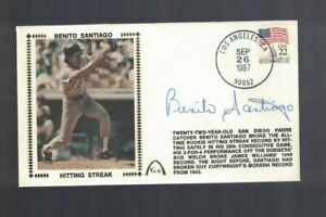 Benito Santiago San Diego Padres Signed First Day Cover Envelope W/Our COA
