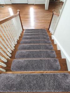 Shaggy-Glittter-Stair-Treads-NON-SLIP-MACHINE-WASHABLE-Mat-Rug-Carpet-22x67cm