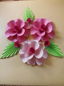 Details About Paper Flowers Wall Decor Set Of 6 Baby Nursery Decor Girls Bedroom