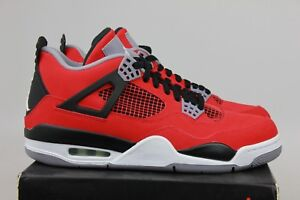 finest selection a9a68 6d9d7 Image is loading Air-Jordan-4-Retro-Toro-Bravo-Fire-Red-
