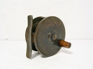 Vintage-Antique-Brass-2-3-8-034-Brass-Platewind-Fly-Fishing-Reel
