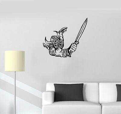 ed1185 Wall Decal Viking Warrior Barbarian Axes Army Vinyl Sticker