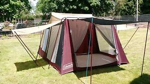 ... 8-Person-Coleman-9232-141-Three-Room-Cabin- & 8 Person Coleman 9232-141 Three Room Cabin Tent 9 X 14 Nice! | eBay