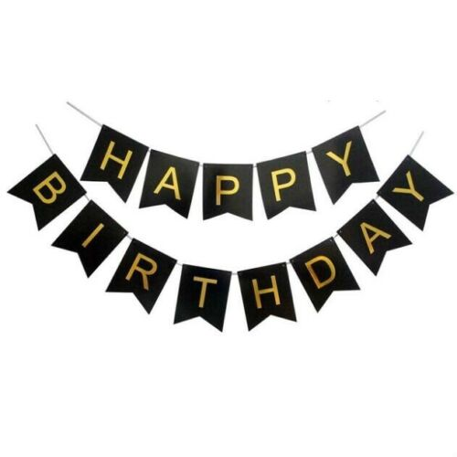 UK Happy Birthday Bunting Banner Pastel Hanging Letters Party Decoration Garland