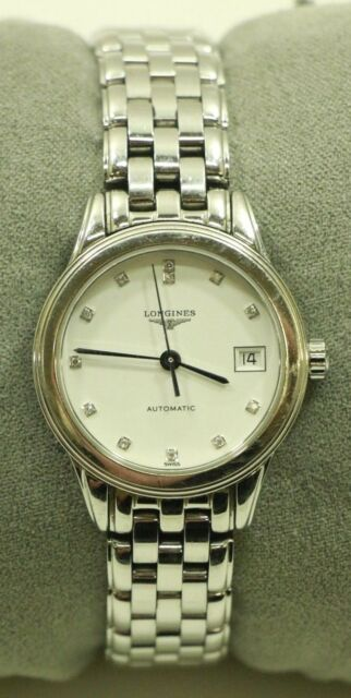 a535c17d095 Longines Flagship Automatic White Dial Stainless Steel Ladies Watch L4.274.4