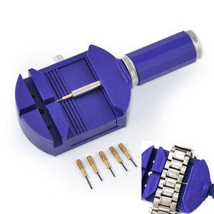 Watch-Band-Wrist-Bracelet-Link-Strap-Remover-Adjuster-amp-5-Pins-Repair-Tool-Set