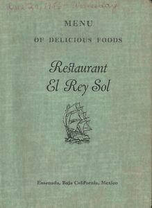 Vintage RESTAURANT EL REY SOL, Ensenada, Baja California, Mexico 1956