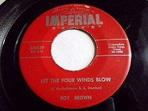 Roy-Brown-Let-The-Four-Winds-Blow-Diddy-Y-Diddy-O-45-1957-Imperia-Vinyl-Record