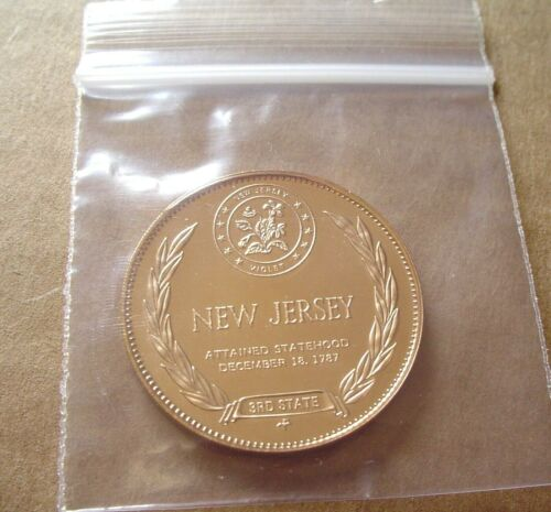 """New Jersey Bronze Medal SLABBED Proof /""""States of the Union/"""""""