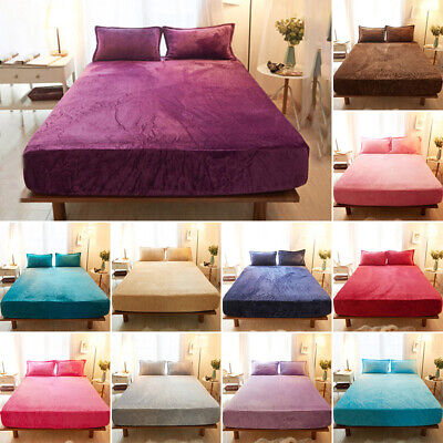 Floral Wrap Around Elastic Fitted Sheet Queen//King Size Bedding Linen Supersoft