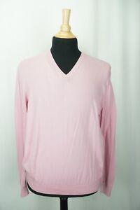 Ralph Lauren Purple Label RLPL Flamingo Pink 100% Cotton Sweater Sz XL Italy