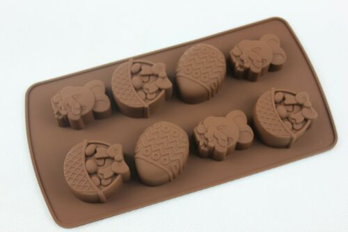 Chocolate Easter Egg Bunny Basket Silicone Mould Animal Jelly Soap Candle