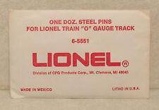 LIONEL  12 STEEL PINS FOR O GAUGE TRACK 65551 NO RESERVE