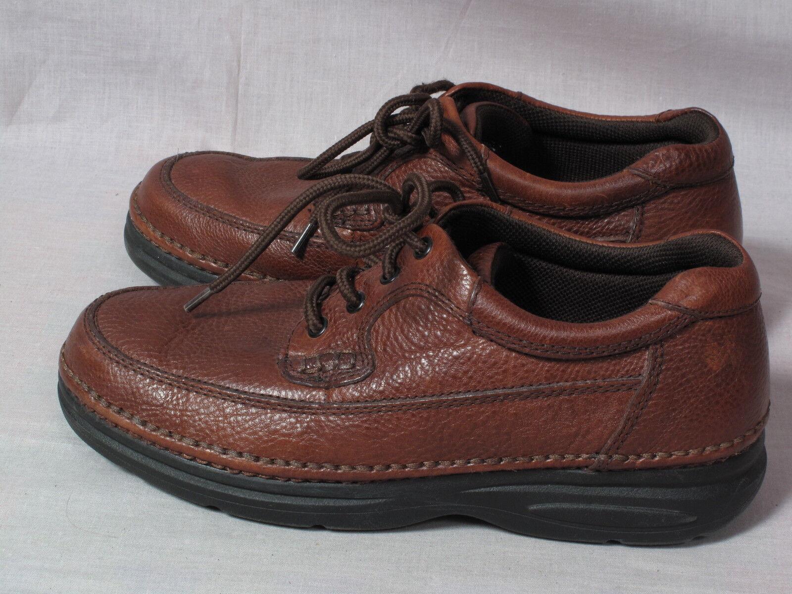 Men's NUNN BUSH Comfort Gel shoes Brown Size 9.5 W Leather Lace-up