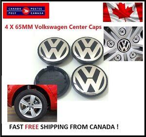NEW-4X-VW-VOLKSWAGEN-CENTER-WHEEL-CAPS-65MM-GOLF-GTI-PASSAT-JETTA-TIGUAN-EOS
