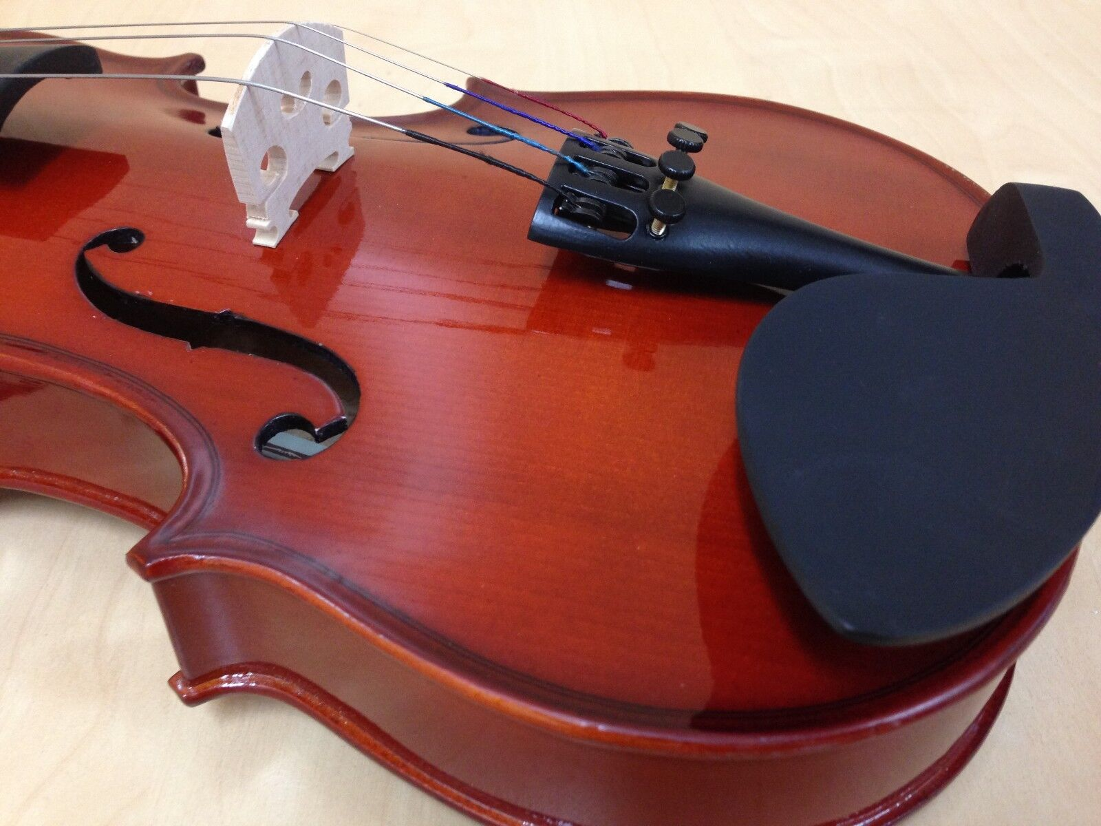 Caraya/Haze 3/4 Größe Pro-Beginner Violin+Extra String Set,Bow,Foam Case-Full Kit