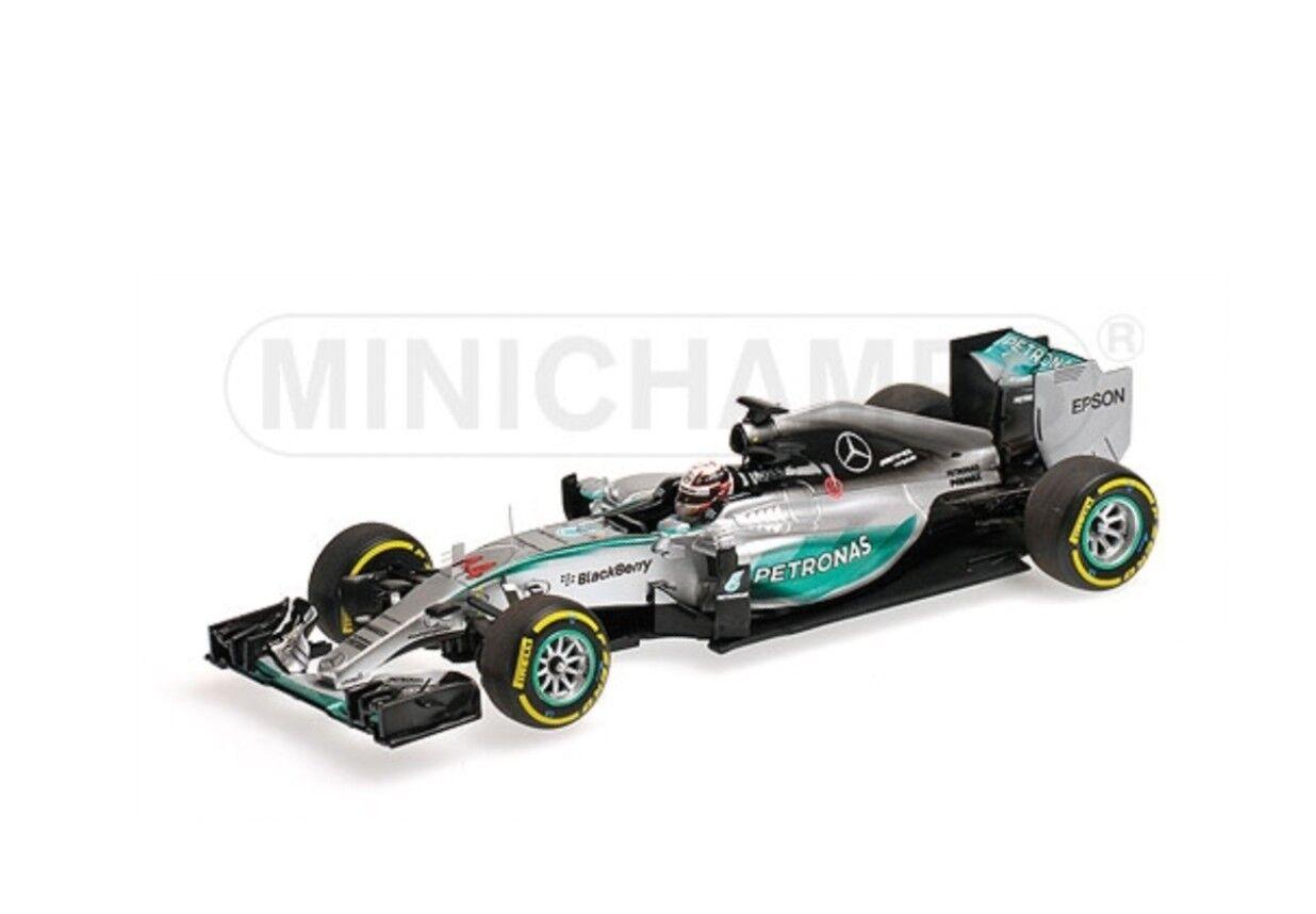 Minichamps 417 150244 MERCEDES AMG F1 W06 RACE CAR vincere BELGA L Hamilton 1 43