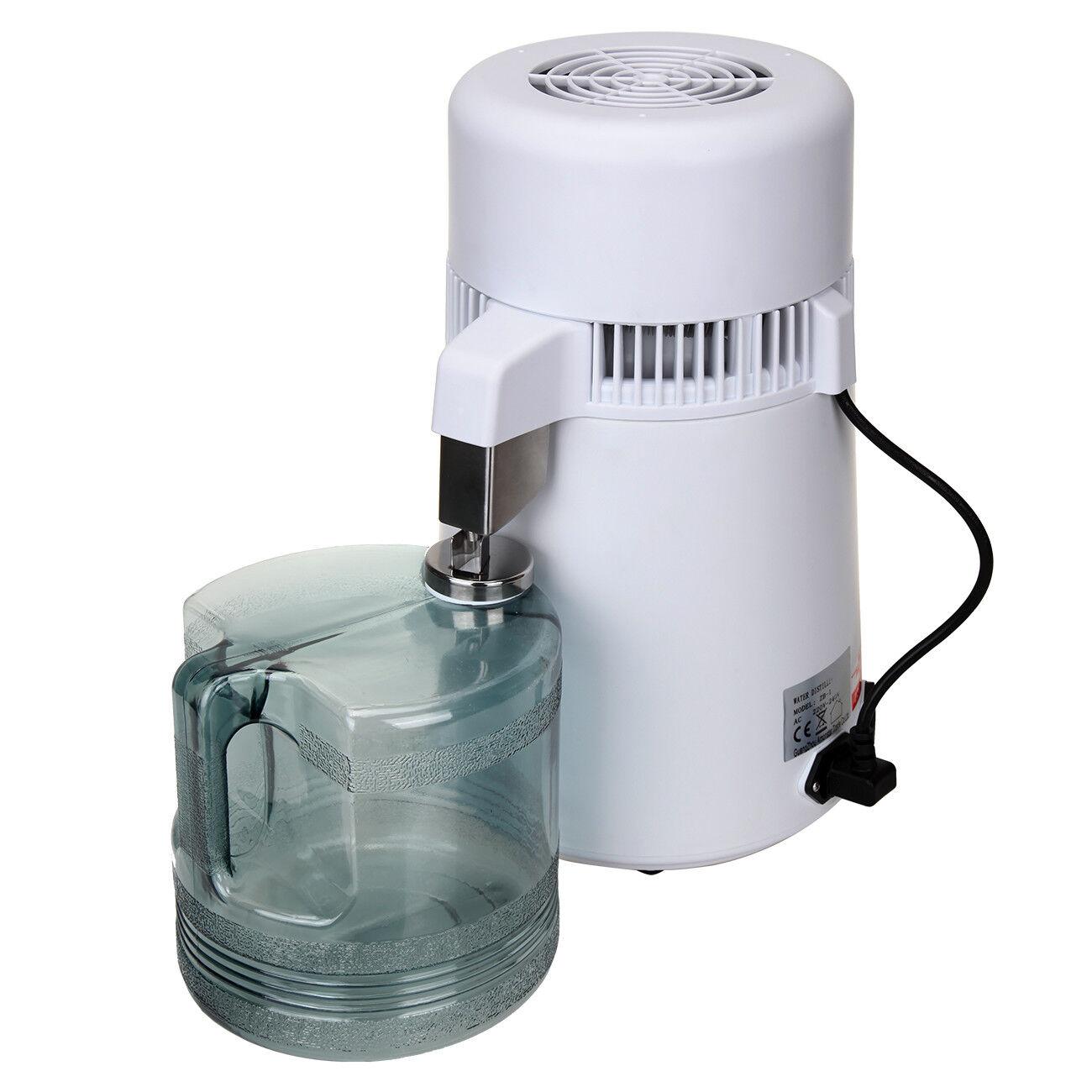 Weiß //Gold Wasser Destilliergerät 4L Edelstahl Innenteil aus Edelstahl Schwarz