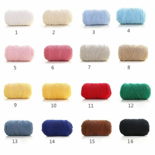 100grams Rainbow 26 Colors Hand-woven Cotton Yarn Soft Crochet Thick Yarn Crafts