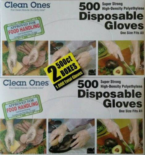 Clean ones Disposable Gloves 1000 Count