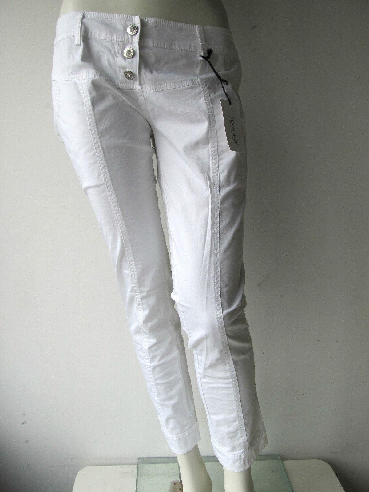Denny Rose PANTALON jeans broek Capri Blanc Nouveau XS S M L
