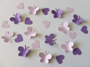 150-BUTTERFLY-amp-HEART-WEDDING-TABLE-SPRINKLES-CONFETTI-DECORATION-LILAC-amp-PURPLE