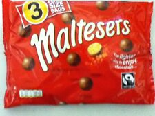 PACK OF 3 BAGS OF MARS MALTESERS - BRITISH CHOCOLATE - WILL SHIP WORLDWIDE