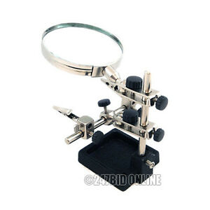 HEAVY-DUTY-HANDS-FREE-HELPING-3RD-HAND-MAGNIFIER-3-5-MAGNIFYING-GLASS-SOLDERING