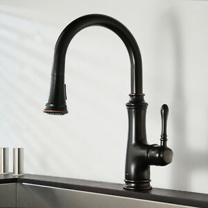 Image Is Loading Keewi Single Handle Pull Out Kitchen Faucet Sink