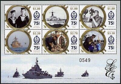Neuseeland 2016 Block 380 Limited Edition 75 Jahre Marine Seestreitkräfte Mnh