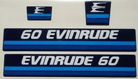 1982 Evinrude Outboard Hood Decals 40/60 Hp