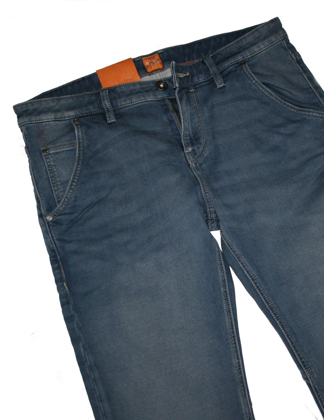 HUGO BOSS 50265916 Turchese AQUA denim elasticizzati arancione 90 Belfast Jeans