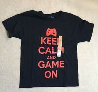 Urban Pipeline keep Calm And Game On Cotton Shirt - Boy's Small -