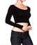 Round-Neck-Long-Sleeve-Tops-Women-Fashion-T-Shirt-Slim-Short-Casual-Blouse thumbnail 1