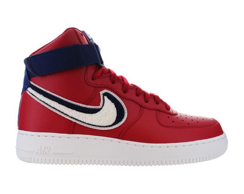 Hombre Nike Air Force 1 de alto'07 LV8 Gym Rojo Azul Blanco Azul Rojo Varsity 806403603 54f331