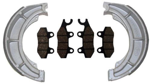 Quadmaster 500 Front Brake Pads /& Rear Brake Shoes Suzuki Quadrunner 500