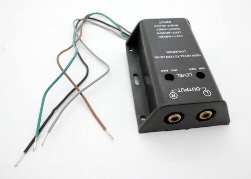 High Low Converter Lautsprecher Cinch Hifi Umwandler Adapter 2 RCA