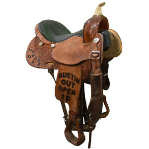 "Used 15"" Pro Rider Barrel Racing Saddle Code: U15PRORIDERNBH"