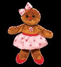 "Ginger Bread Girl 7.5"" long PINK stuffed plush Douglas Christmas gingerbread"