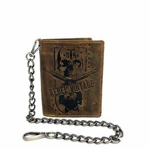 Greenburry-Leder-Portemonnaie-Geldboerse-Kette-Vintage-Rebel-Skull-1796A-SK-25