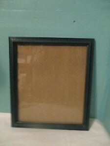 large wooden green picture frame glass pane