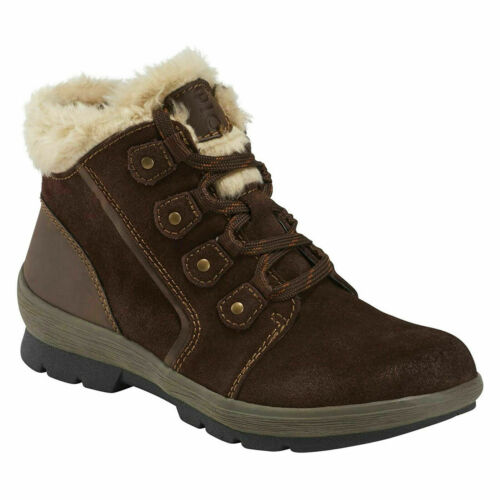 Details about  /EARTH ORIGINS SHERPA SCARLETT Ankle Boots Suede Fur Brown