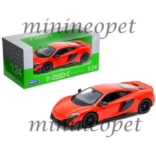 WELLY 24089 MCLAREN 675 LT COUPE 1//24 DIECAST MODEL CAR RED