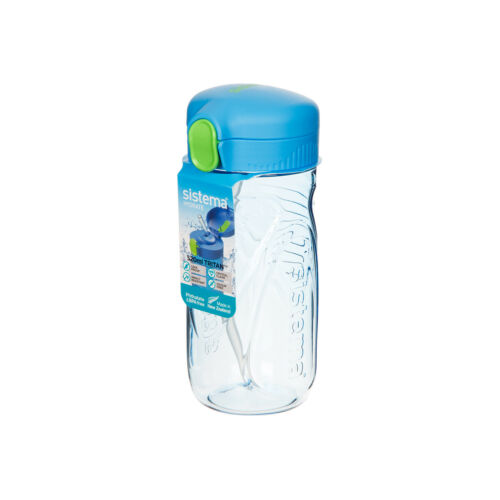 Sistema Quick Flip Bouteille 520 ml bleu eau boissons Paille Travail Voyage Sur Le Go