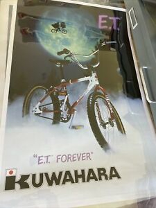 kuwahara bmx old school POSTER AUTHENTIC 1982 Very Good Condition