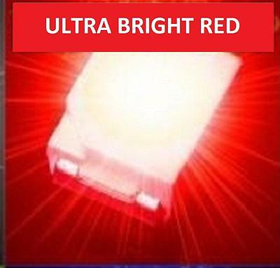 100 x ULTRA BRIGHT RED 1210 3528 SMD SMT PLCC-2 SURFACE MOUNT ULTRA BRIGHT LEDS