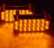 Amber 22 LED Emergency Light Car Truck Flashing Hazard Warning Strobe Grill Lamp