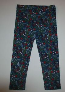 ec5a6ad952 Details about New Gymboree Girls Blue with Pretty Tiny Floral Print  Leggings Pants 3T