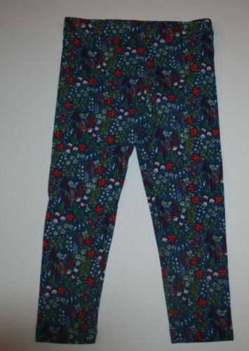 New Gymboree Girls Blue with Pretty Tiny Floral Print Leggings Pants 3T
